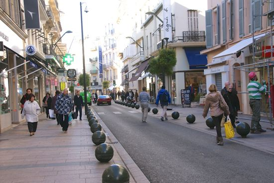Shopping gaden Rue d´Antibes i Cannes